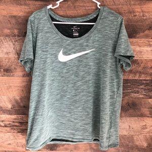 XL Nike Dri Fit Mint Green Short Sleeve Tee